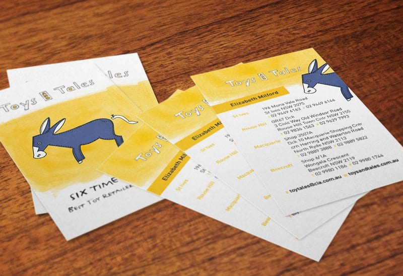 Toys and Tales Business Card