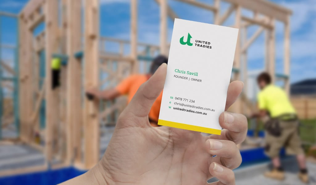 United Tradie Business cards