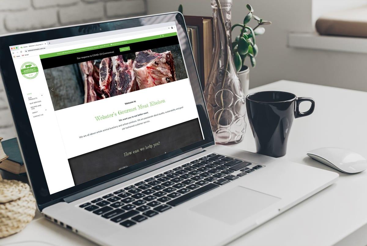 Websters Meats Website