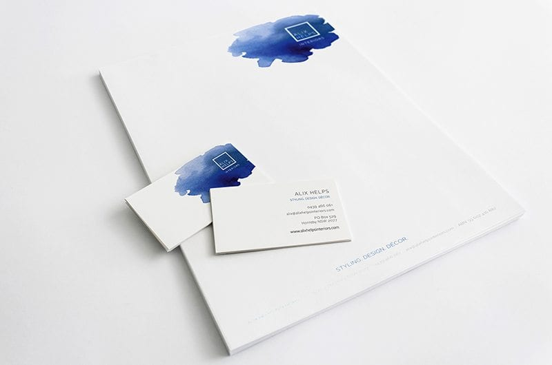 Alix Helps Interiors Letterhead