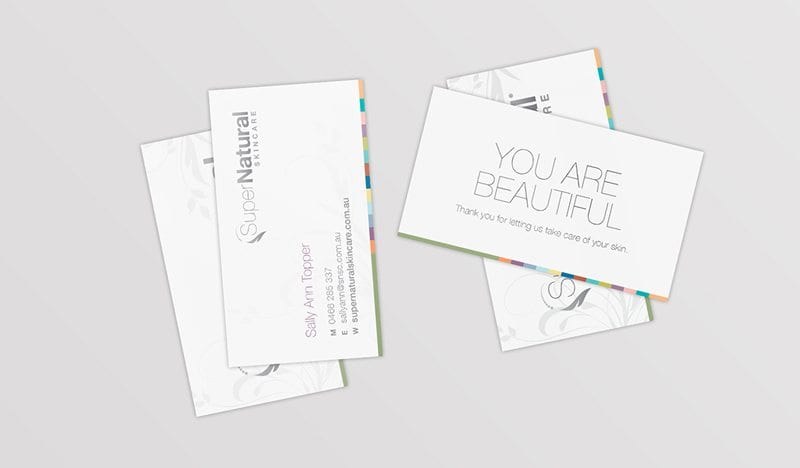 Super Natural Business cards